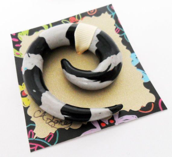 Grey and Black Beetle Juice Striped morbid by AeysheaJones on Etsy, £6.99