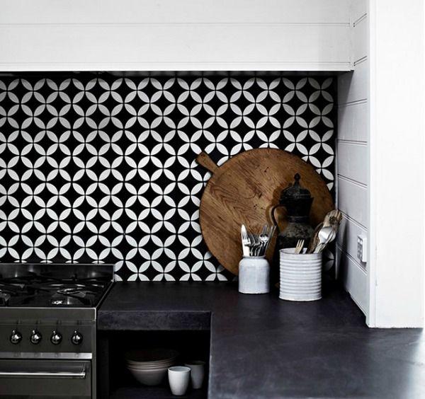 tegels-keuken-zwart-wit-patroon