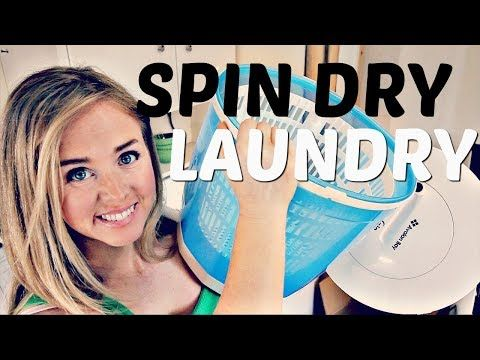 Off Grid or Apartment Laundry Spin Dryer - YouTube