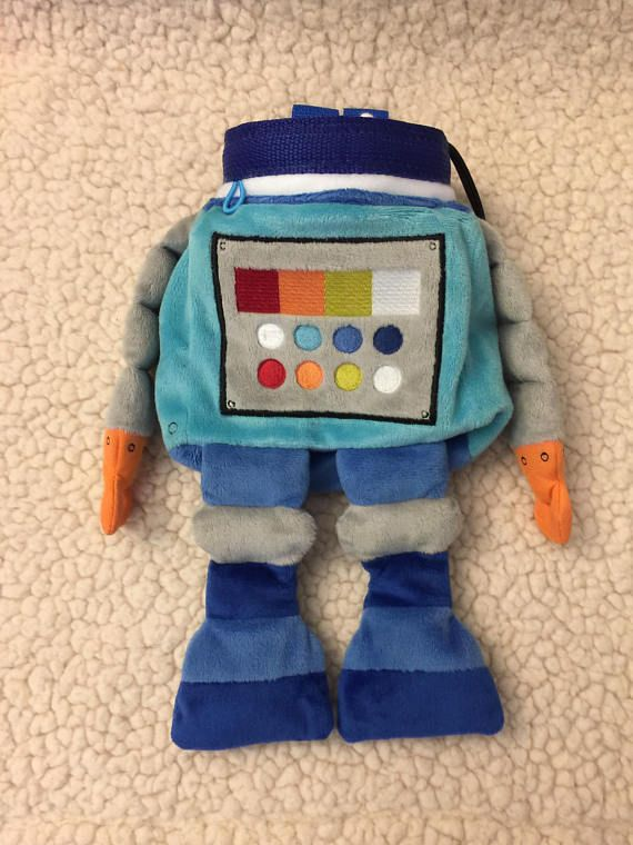 robot chalk bag rock