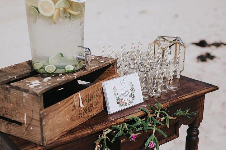 Ceremony: Belongil Beach, Byron Bay  Reception: The Belongil, Byron Bay, NSW  Photographer: Tennille Fink Photography  Stylist & Hire: Hummingbird Style & Hire  Additional Hire: Sunshine & Confetti  Stationery: Hummingbird Style & Hire