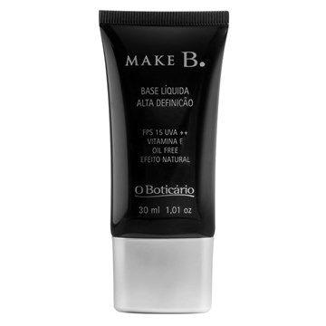 Make B. Base Líquida de Alta Definição, 30ml - O Boticário
