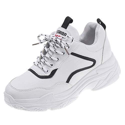 45b4dc297527 refulgence Womens Round Toe Sneakers Breathable Mesh Walking ...