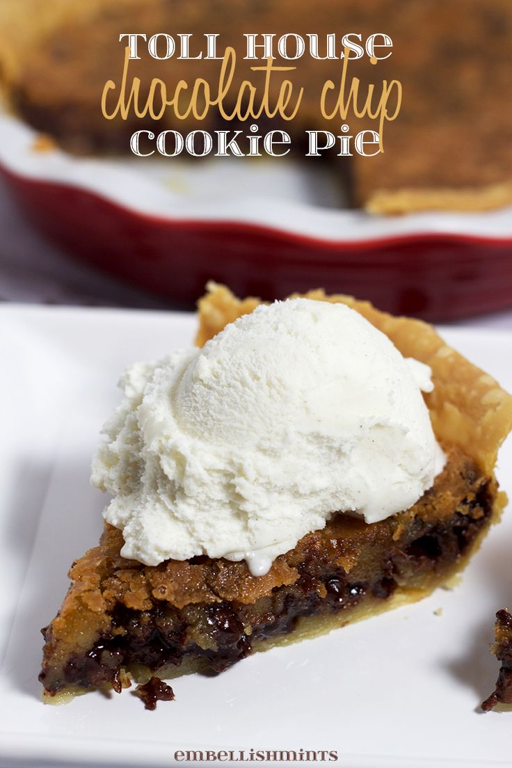 Top 25+ best Toll house ideas on Pinterest | Chocolate chip pie ...