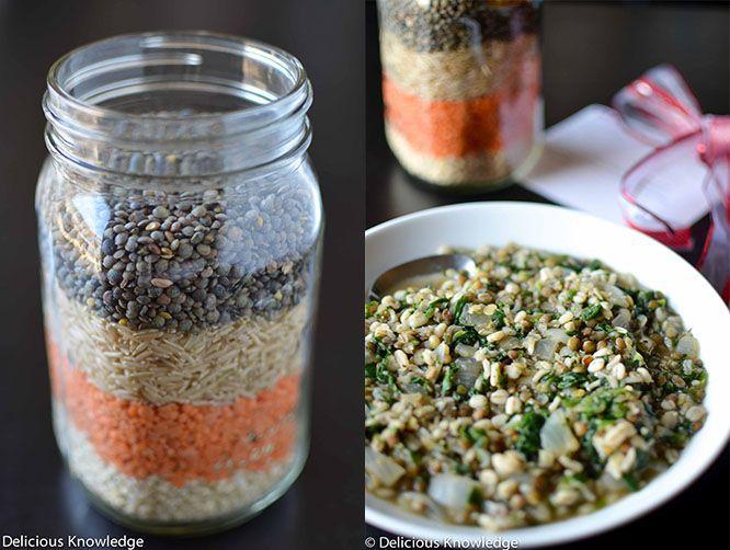 Perfect DIY christmas gift, confetti lentil soup! Gorgeous gift for teachers!