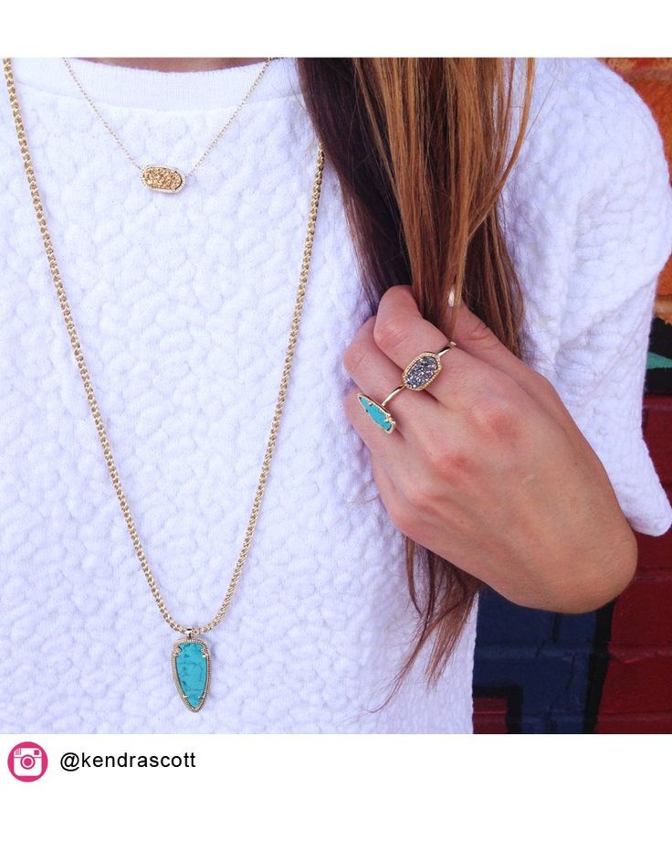 Shaylee Pendant Necklace in Turquoise - Kendra Scott Jewelry. Coming July 16!