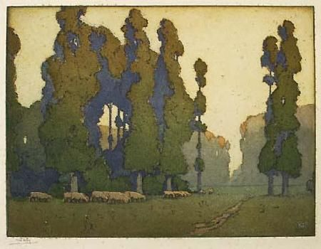 Alfred Hartley - Landscape - Auckland Art Gallery