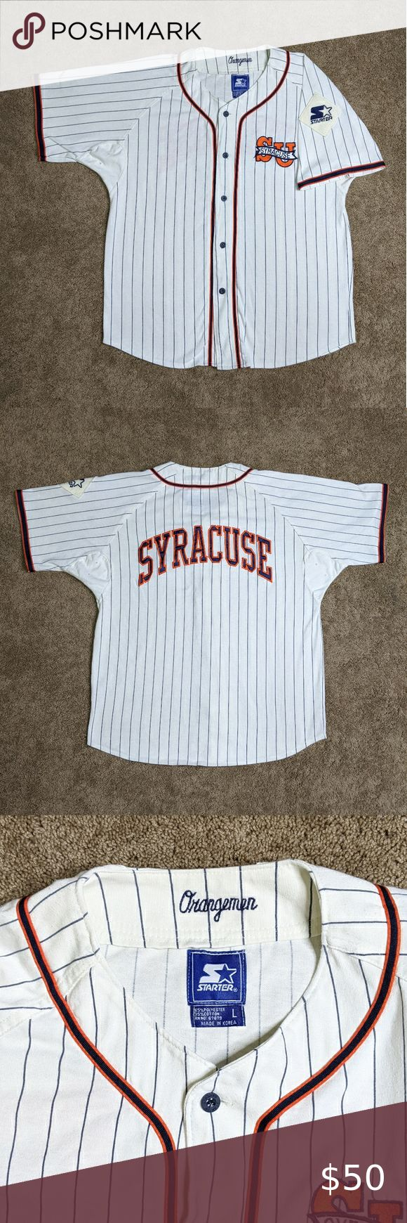 Starter Baseball Jersey Syracuse Orangemen Vintage in 2020