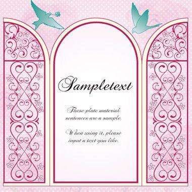 上品な窓辺風_結婚-招待状-カード-母の日-枠-囲み-フレーム背景イラスト