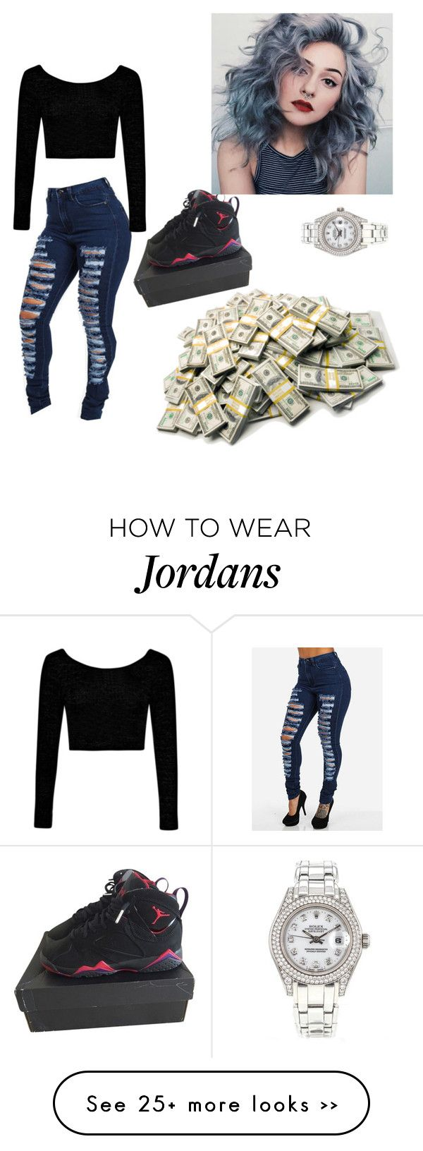 """""""juss beign random"""" by lovermonster on Polyvore featuring Boohoo and Rolex"""