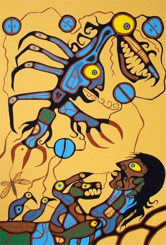 Norval Morrisseau, also called Copper Thunderbird