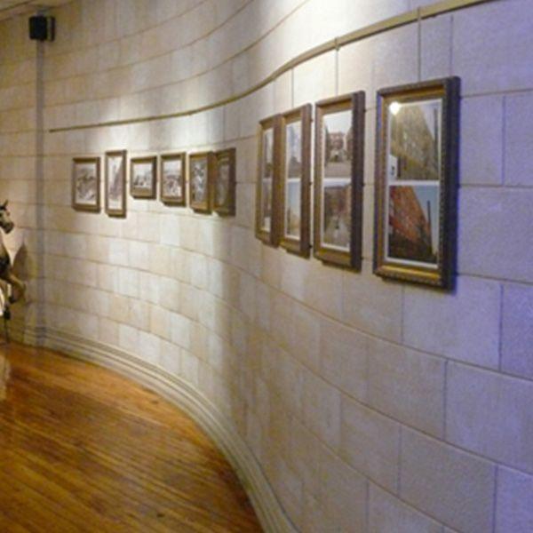 How To Hang Art On Brick Walls Curved Walls Masonry Wall Art Hanging System