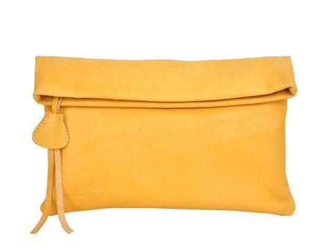 Black, yellow or blu Pierre Cardin genuine leather clutch / cross body | SoLime