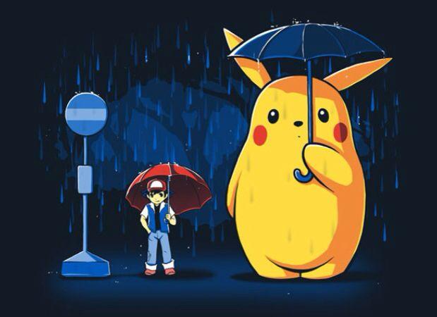 Rainy Day. Cool mashup tshirt for Pokemon / Pikachu and ...