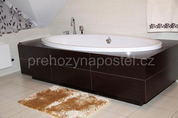 Koupelnové podložky tmavě krémové barvy