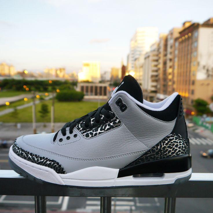 Nike Air Jordan 3 Retro Wolf Grey Silver 2014 Mens Basketball Shoes Sneakers  AJ3