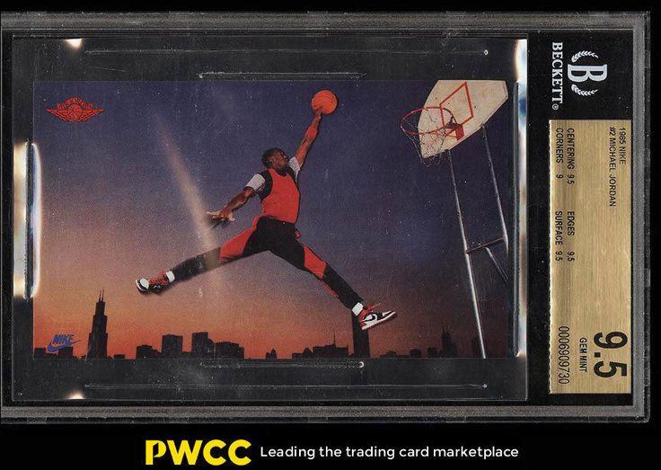 1985 nike promo michael jordan rookie rc bgs 95 gem mint