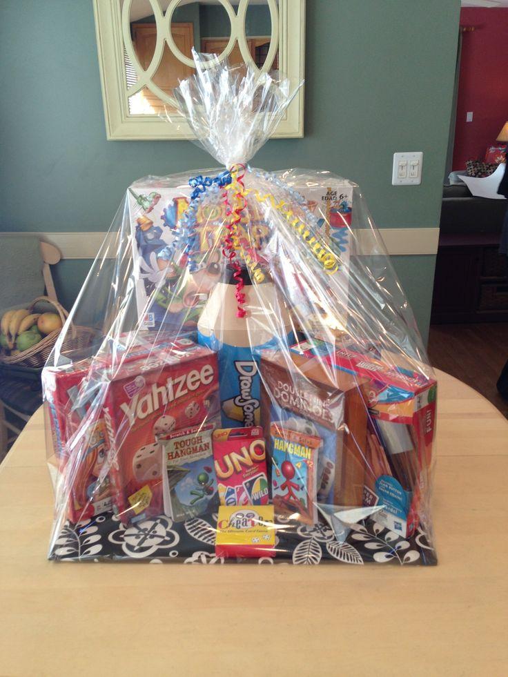 Family game night gift basket ideas pinterest