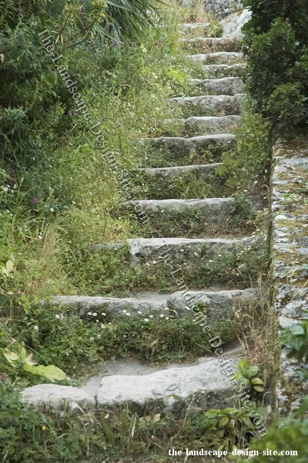 72 best images about steps up a slope on pinterest for Rustic landscape ideas