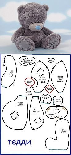 DIY Tatty Teddy - FREE Sewing Pattern / Template