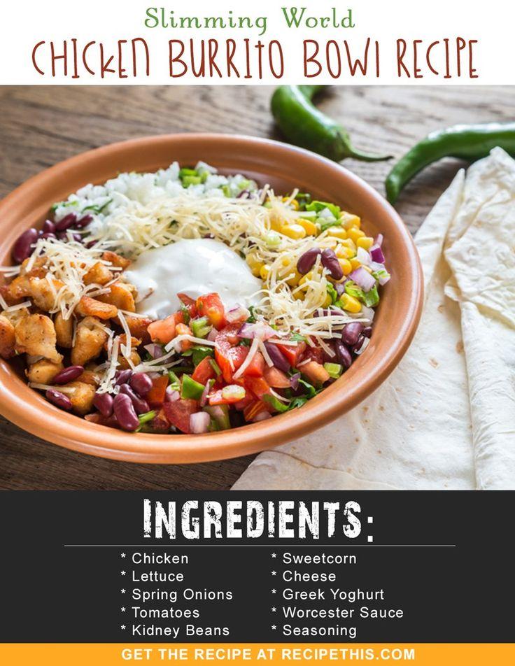 Slimming World Recipes | Slimming World Chicken Burrito Bowl Recipe from RecipeThis.com