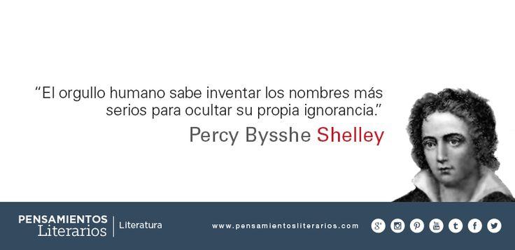 Percy Bysshe Shelley. Sobre el orgullo humano.