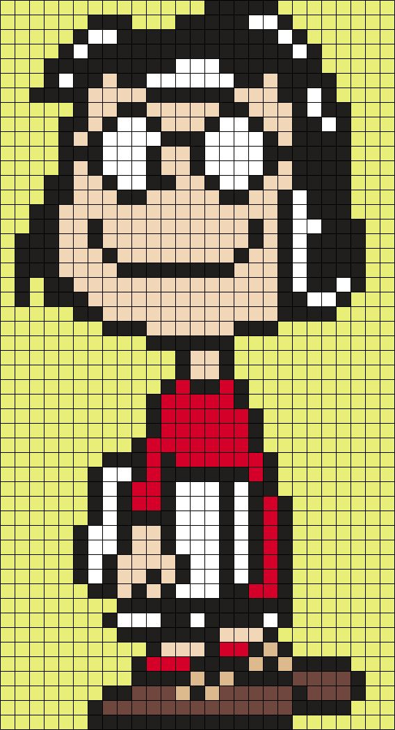 Marcie From Snoopy And The Peanuts Gang Perler Bead Pattern / Bead Sprite