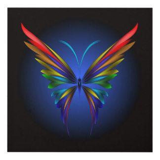 Arte de madera de la pared de la mariposa cuadro