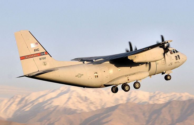 Alenia-Lockheed Martin C-27J - 164th Airlift Squadron -  U.S. Air Force in the runway at Bagram Airfield, Afghanistan Oct. 17, 2011 (USAF photo by Sgt. Joe Harwood)