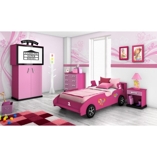 Cama coche de ni as dormitorio infantil para ni as www for Camas nidos para ninas