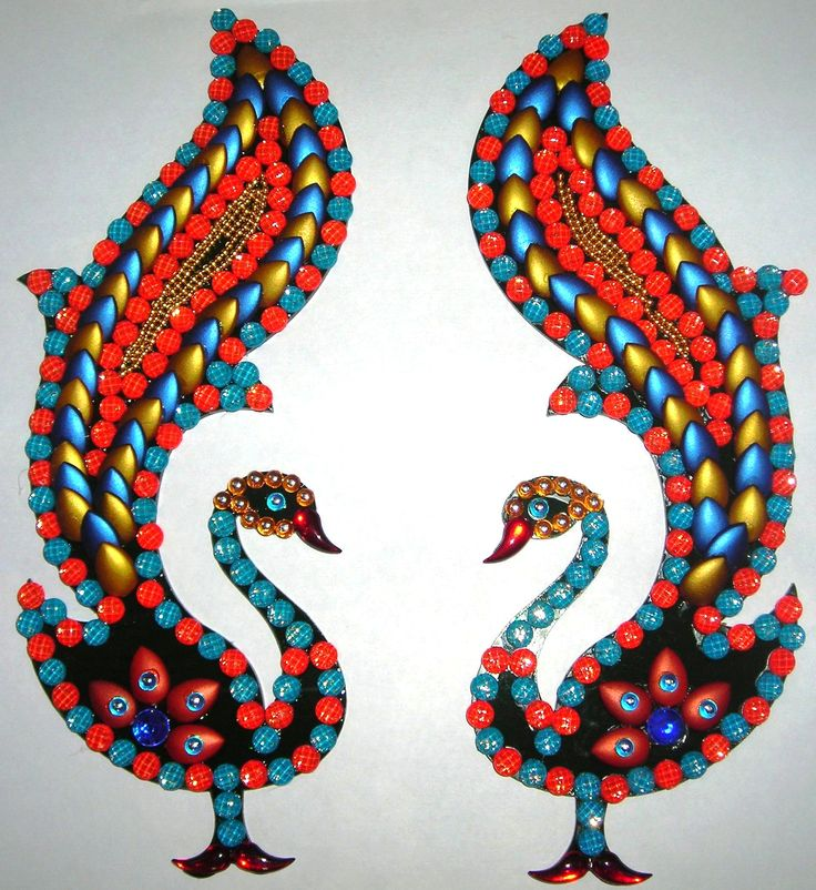 2 Pcs Beautiful Peacock Acrylic Handmade Crafts To Decor Your Home At Craftshopsindia Home
