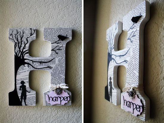 25+ Best Ideas About Wooden Block Letters On Pinterest