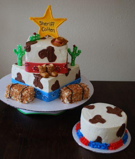Amanda's Crafts and More: Western Birthday Cake