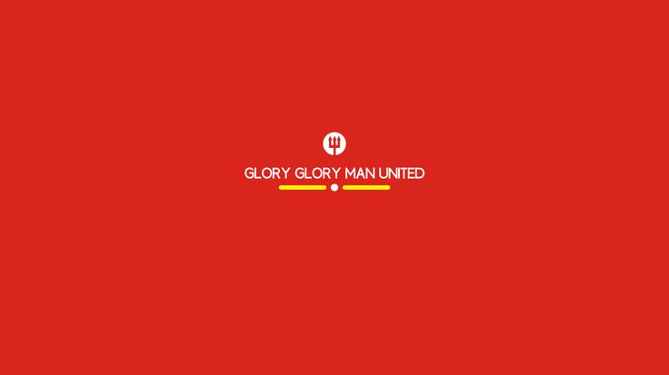 "Glory Glory Man United : simple ""Manchester United"" wallpaper by Hamzah Zein"
