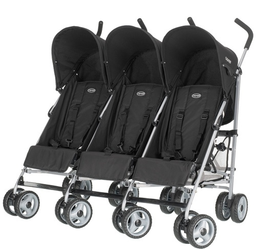 #Obaby #Triple Pushchair Stroller-Black available online at http://www.babycity.co.uk/