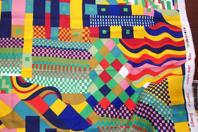 BAUHAUS by Collier Campbell for Liberty fabric: Bauhaus Liberty, Color, Textiles Design, Liberty Fabric, Textiles Inspiration