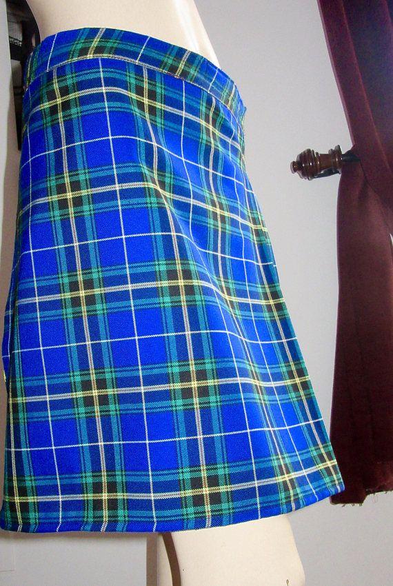 03f94b52d2 Ladies Kilt Nova Scotia Kilt in Blue Yellow Black Plaid Kilt ...