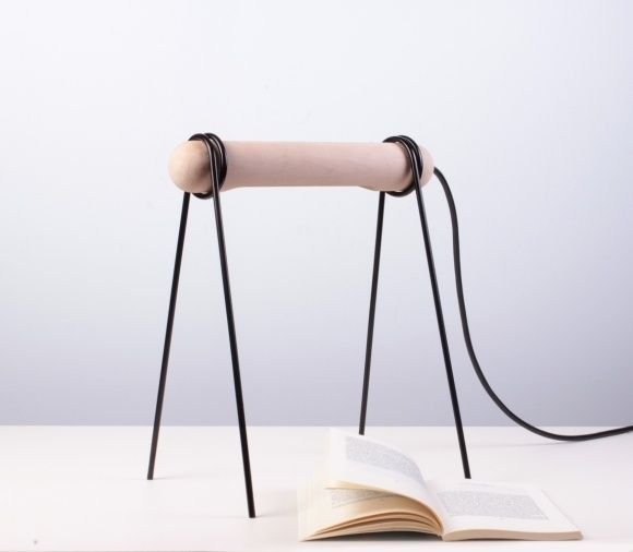 123 Is A Simple LED Table/reading Lamp Created By Federico Floriani. The  Minimal Lighting Unit Is Composed Of Three Parts, Two Metal Legs And An Oak  Body.