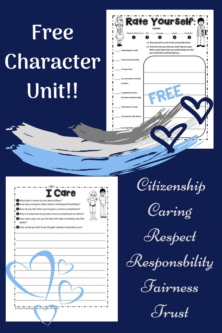 A Complete Unit On Character Counts The 6 Pillars Of Character Free Worksheets Characterworkshe Writing Worksheets Character Education Character Worksheets [ 1102 x 735 Pixel ]