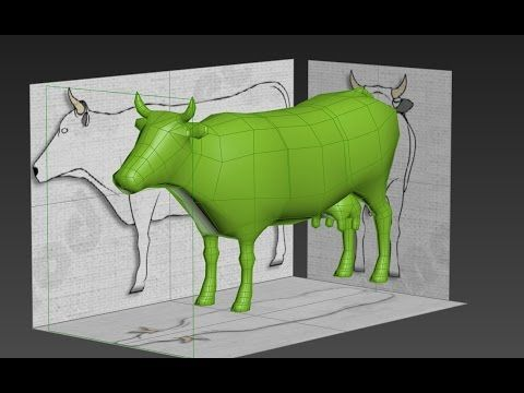 Modeling cow 3ds max
