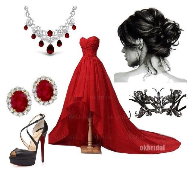 """Emma's Masquerade outfit"" by alwaysapotter-head ❤ liked on Polyvore featuring Christian Louboutin and Bling Jewelry"