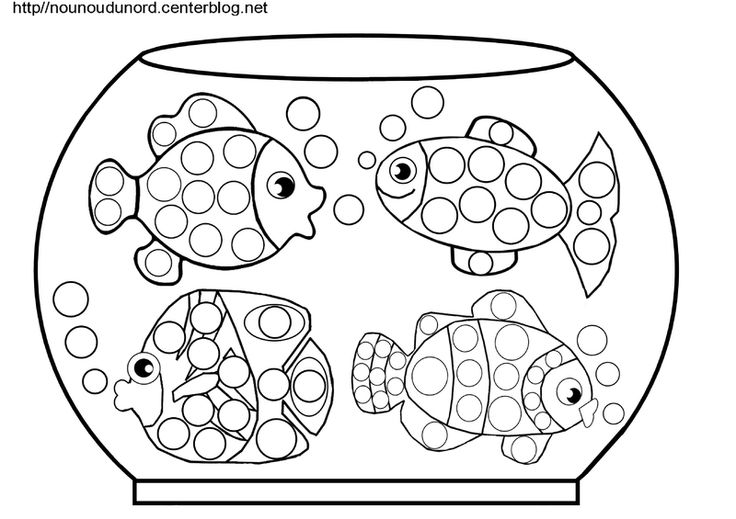 coloriage gommettes poissons dans aquarium blog nounoudunord                                                                                                                                                                                 Plus