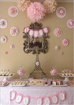 Love this for a Bridal Shower! So pretty and feminine!