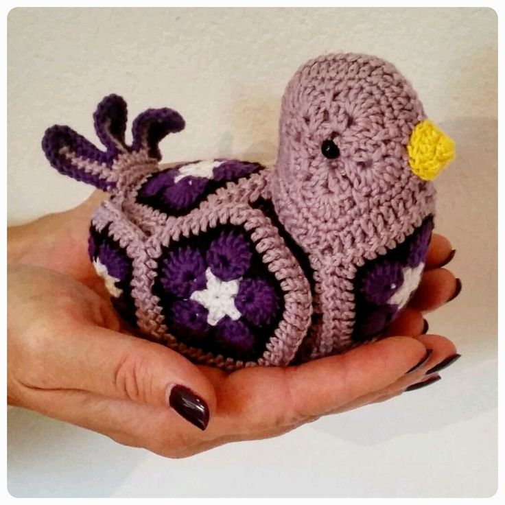 Purple bird! (Heidi Bears design)