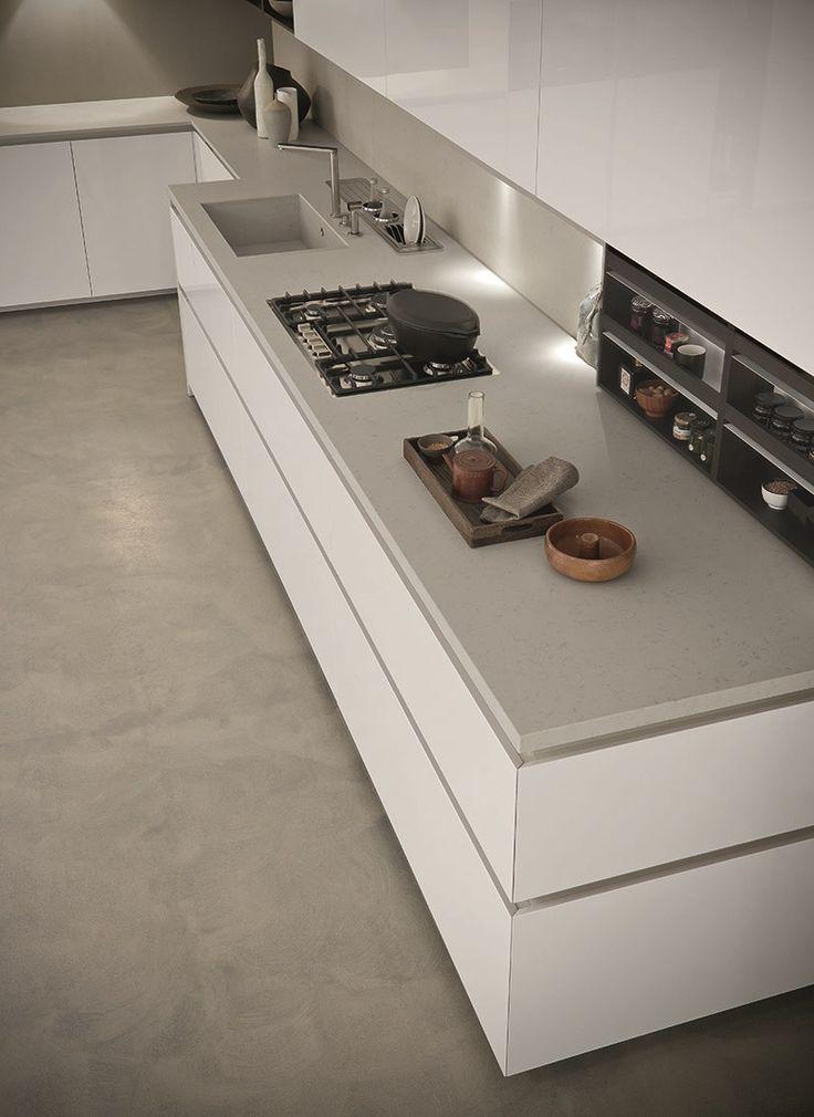 Oltre 25 fantastiche idee su cucine bianche moderne su for Lavello nero