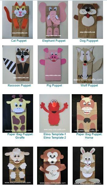 Bolsas de papel y sus moldes en PDF. Paper bags with templates
