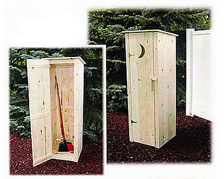 A Garden Tool Shed That Looks Like An Outhouse. LOL Think Lancaster, TX Will