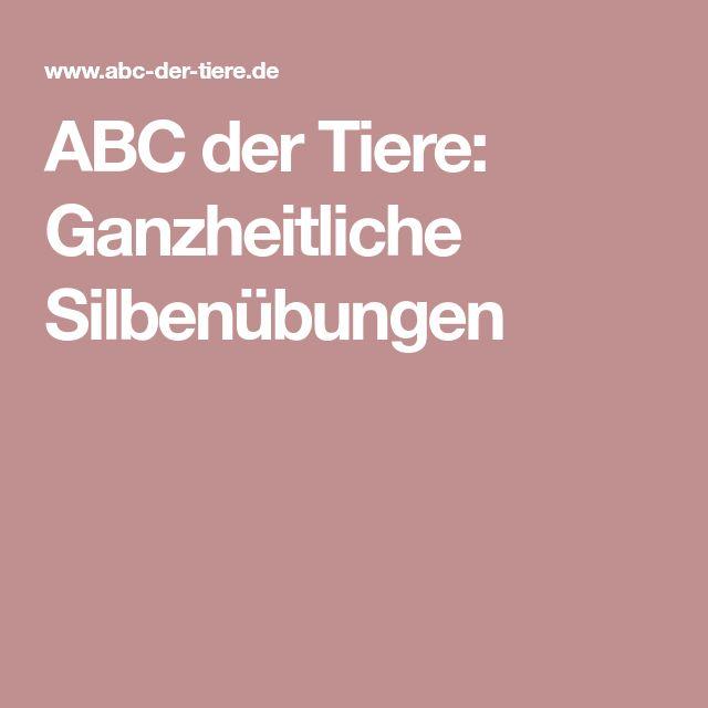 ABC der Tiere: Ganzheitliche Silbenübungen