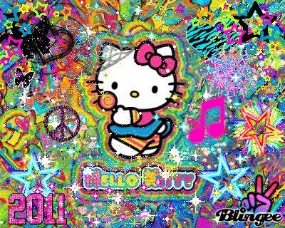 Neon Hello Kitty Funky Neon Hello Kitty D Picture