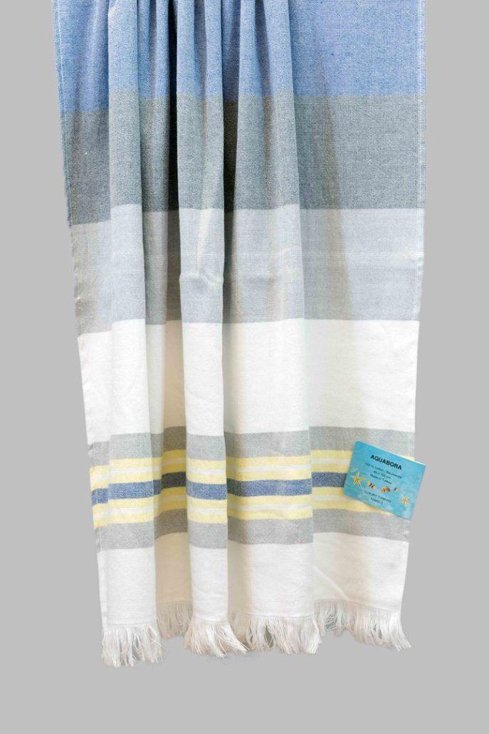Marine Barbados Turkish Towel Towel Turkish Towels Handmade